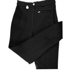 Pikeur Damen Reithose Albany, Kniebesatz, Reißverschlusstasche vorne, schräg gerippt für besonders hohe Elastizität, schwarz