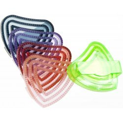 Herzchenstriegel Gummi Striegel mit Herz, weich und flexibel für Reitsport Pferd - nur farblich sortiert (1 Stück)