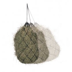 Heunetz Nylon mit Ösen, große Maschen, weite Füllöffnung