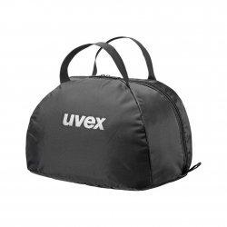 Helmtasche, Reithelmtasche, Reitkappentasche, von UVEX schwarz, Huttasche, Zylindertasche, UVEX-Schriftzug